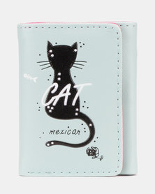 Utopia Cat Purse Blue