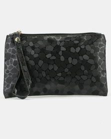 Utopia Glitter Purse Black