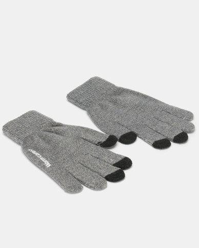 Utopia Ladies Winter Gloves Grey Melange