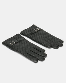 Utopia Ladies PU Winter Gloves Black