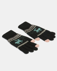 Utopia Deer Gloves Black