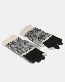 Utopia Stripe Gloves Black/Black