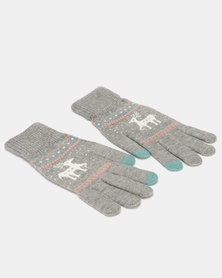 Utopia Deer Gloves Grey