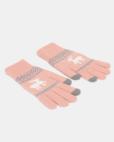 Utopia Deer Gloves Soft Pink