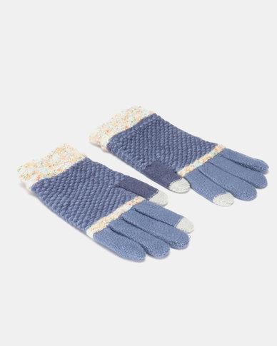 Utopia Stripe Gloves Blue/Grey