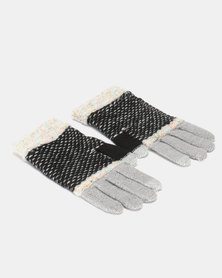 Utopia Stripe Gloves Black/Grey