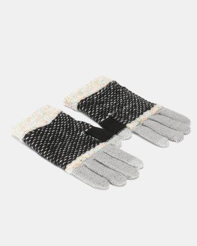 Utopia Stripe Gloves Black/Grey