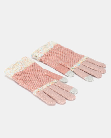 Utopia Stripe Gloves Pink/Pink