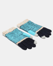 Utopia Stripe Gloves Blue/Blue