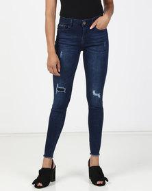 Sissy Boy Jon Jon Low Rise Basic Skinny Jeans Dark Blue