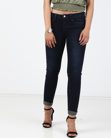 Sissy Boy Jon Jon Low Rise Basic Skinny Jeans Blue Black
