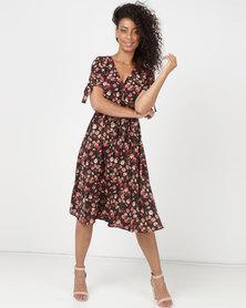 SassyChic Sarah Midi Dress Floral