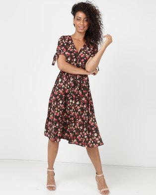 65837b7dcd3763 SassyChic Sarah Midi Dress Floral