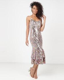 Princess Lola Boutique Gossip Girl Frill Dress Multi