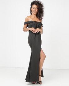 Princess Lola Boutique Matadora Off Shoulder Gown Black