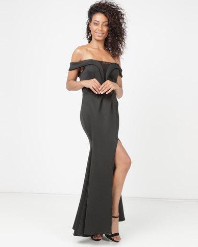 Princess Lola Boutique Matadora Off Shoulder Gown Black