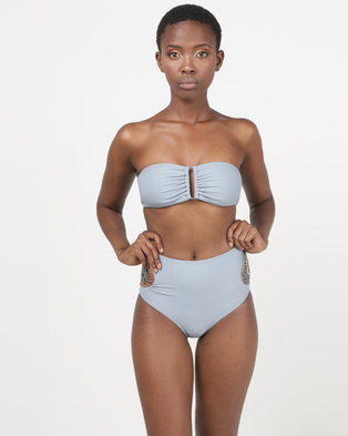 548a9a821a0ea theHive high waisted bikini bottoms with crochet inset