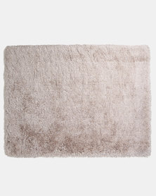 Lush Living Microfibre Comfort Shaggy Rug Gold/Silver