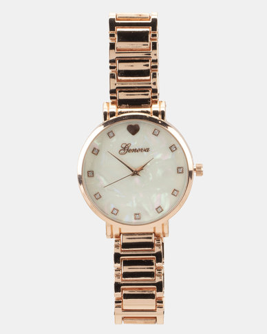You & I Mother of Pearl Dial Watch Rose Gold