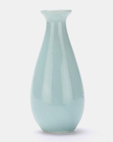 Royal T Ceramic Vase Blue