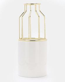 Royal T Vase White/Gold