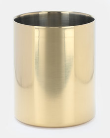 Royal T Stainless Steel Vase Gold