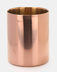 Royal T Stainless Steel Vase Rose Gold
