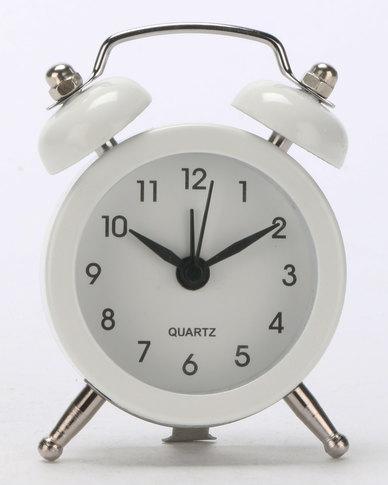 Royal T Retro Alarm Clock White
