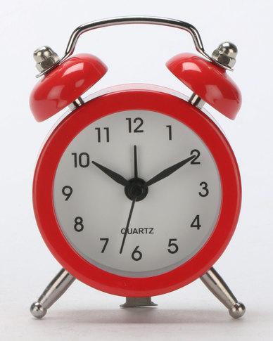 Royal T Retro Alarm Clock Red