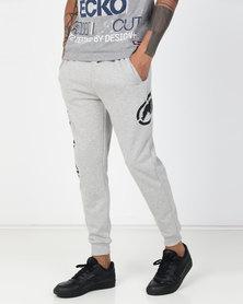 ECKÓ Unltd Logo Joggers Grey