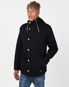 Hurley Mac A Frame Hood Jacket Black