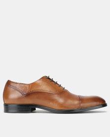 Steve Madden Evans Leather Dress Shoes Tan