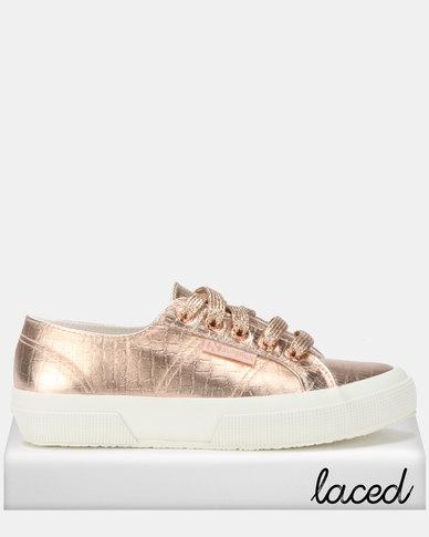 Laces Rose GoldZando Superga Print Bling Sneakers Croc Glitter FTJu15lc3K