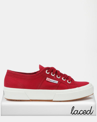 Superga Classic Canvas Sneakers Red Dark Scarlet