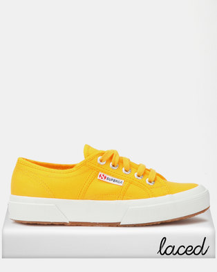 superga classic canvas sneakers yellow gold  zando