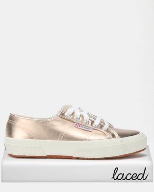Superga Metallic Foil Sneakers Shine Rose Gold 7788a14593a