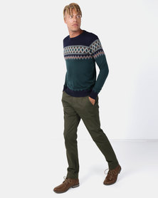 Jonathan D Norway Trousers Dark Olive