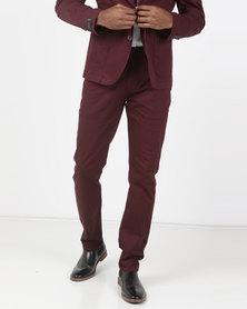 Jonathan D Norway Trousers Cognac/Burgundy