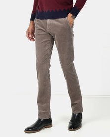 Jonathan D Kelvin Baby Cord Trousers Taupe
