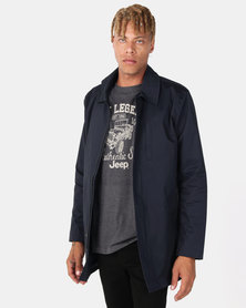 Jonathan D Roadster Car Coat Navy