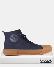 Superga Canvas Logo Boots Blue Gum