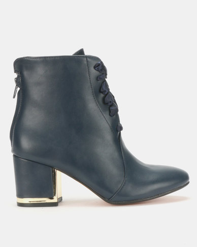 Urban Zone Ankle Boots Navy