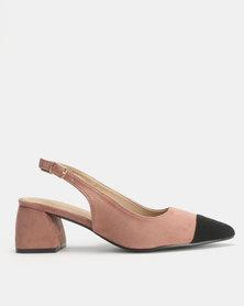 Urban Zone Slingback Block Heel Sandals Dark Pink
