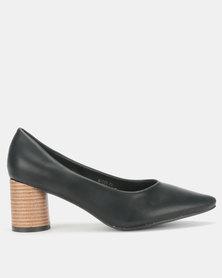 Urban Zone Round Heel Shoes Black