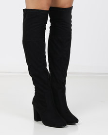 Urban Zone Over The Knee Boots Black