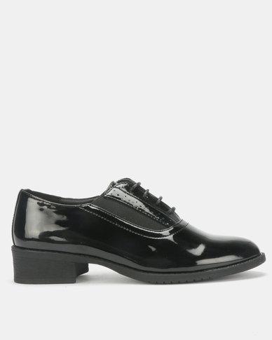Urban Zone Glossy Slip On Shoes Black