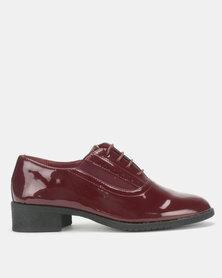 Urban Zone Glossy Slip On Shoes Burgundy