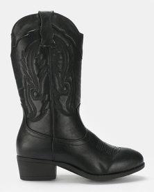 AWOL Long Boots Black