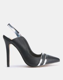 Footwork Chiara Slingback Heels Black