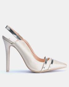 Footwork Chiara Slingback Heels Gold